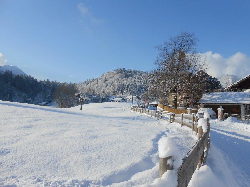 Eschenlohe in Winter