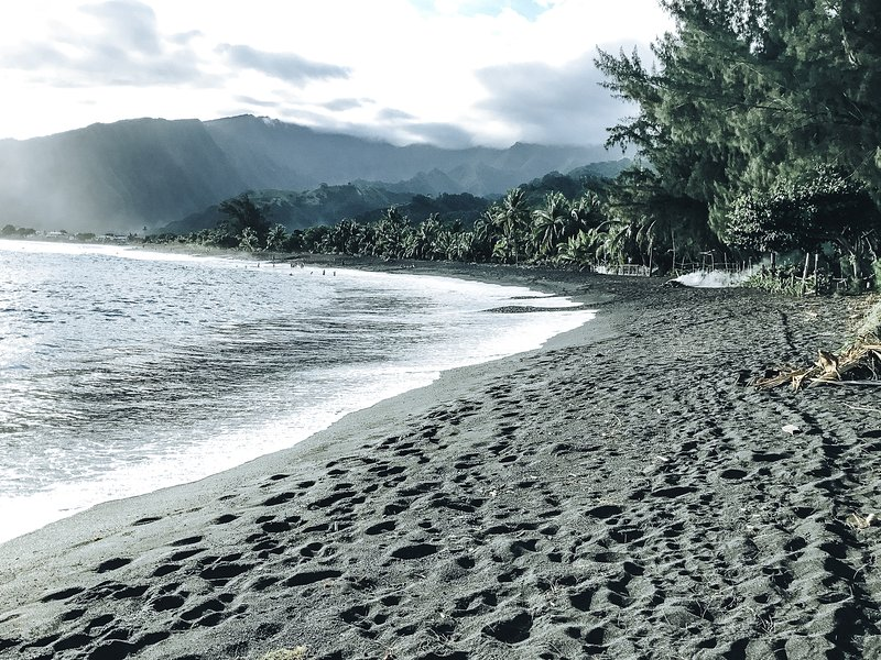 ✪OCEAN FRONT VIEW✪ Tahiti Surf Beach ✪KING BED✪TEMOE1✪, vacation rental in Society Islands
