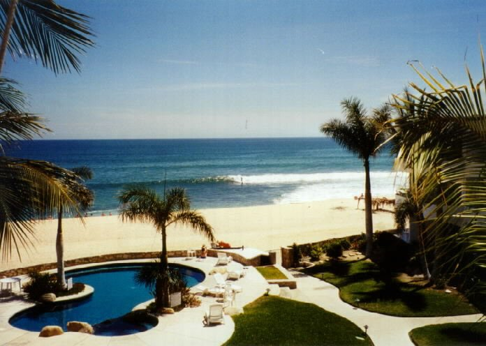 enjoy watching surfers from the balcony