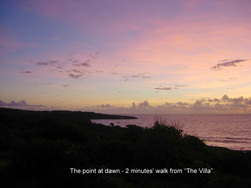 Dawn at the ' Point' -- a 2 minute walk from the villa.