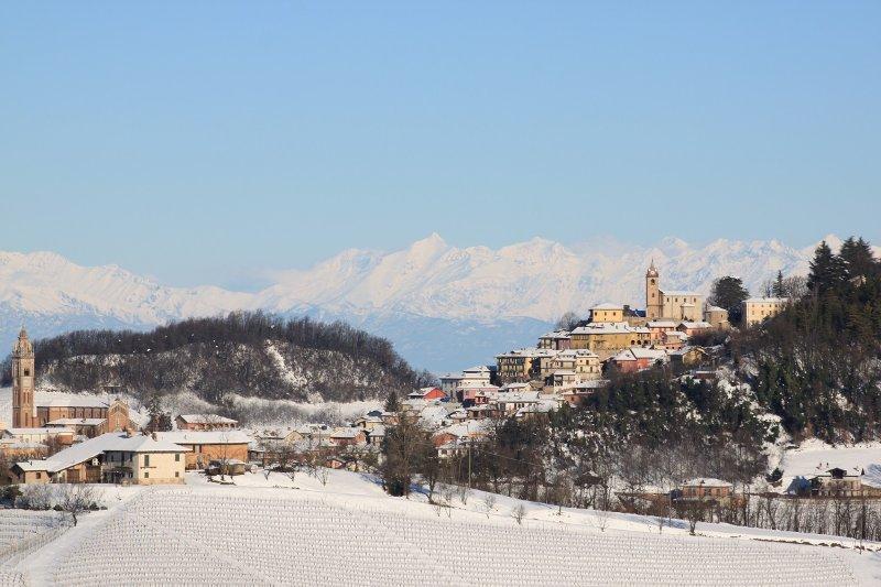 Monforte d'Alba in de winter
