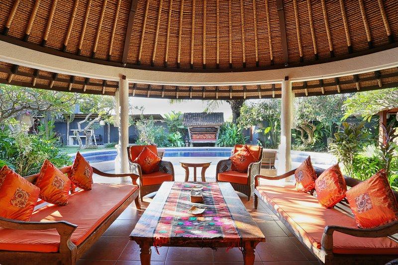 surface habitable semi plein air à Bali Akasa Villa.
