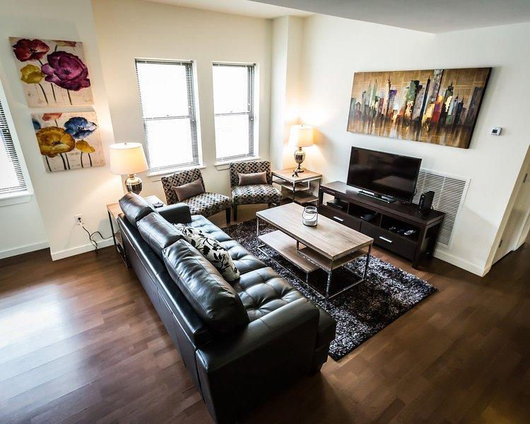 Stay Alfred Philadelphia Vacation Rental Living Room
