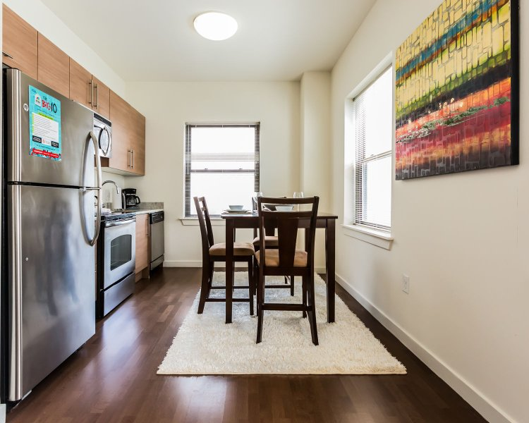 Stay Alfred Philadelphia Vacation Rental Dining Area