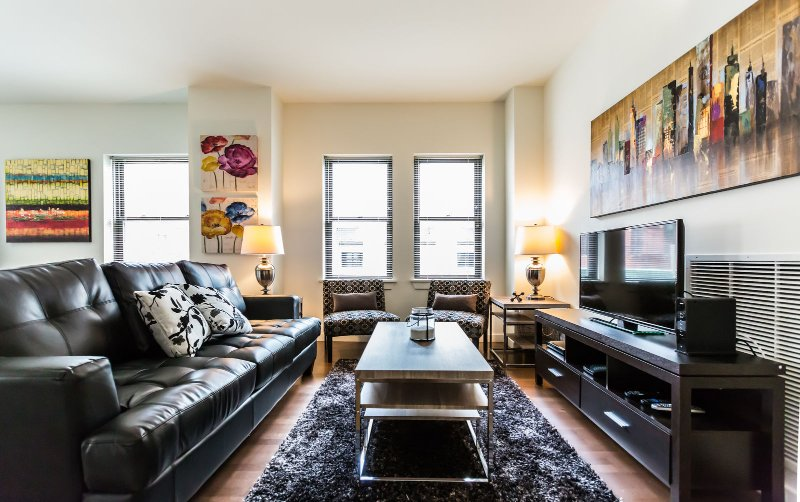 Stay Alfred Philadelphia Vacation Rental Woonkamer