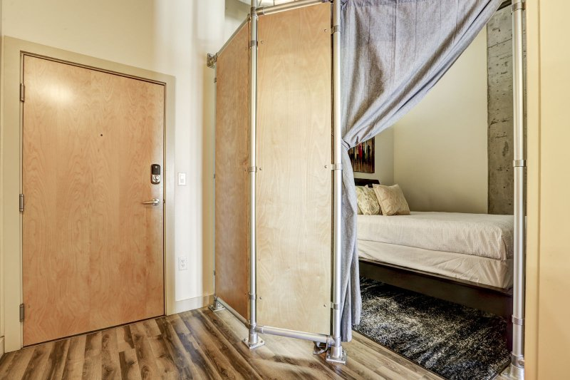 Stay Alfred Premier Lofts - Loft Bedroom w/Privacy Curtains