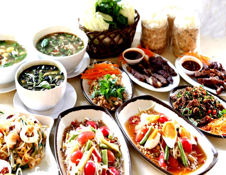 This is 'Issan food' my favorite thai restaurant . I will show you the best place at samui..