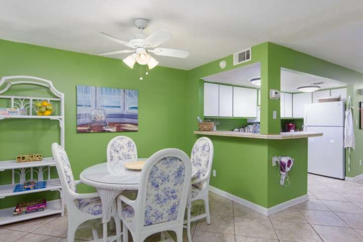 Enjoy your family meals together in the open dining room area
