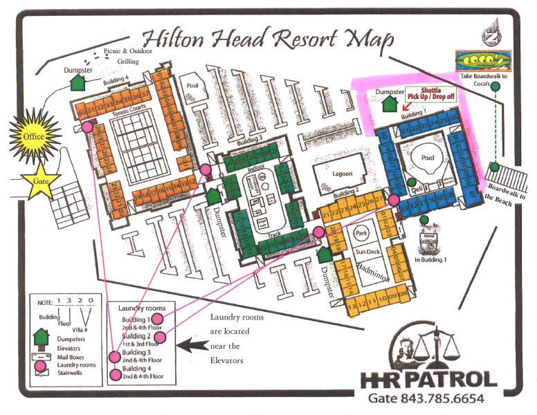 MAP OF OUR RESORT.