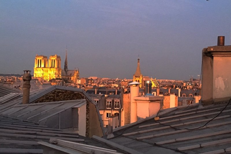 Notre Dame Cathedral from the window of your Loft...