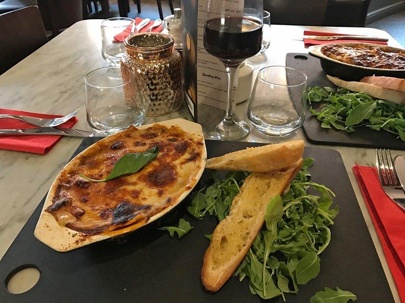 Lasagne at Lorenzos!