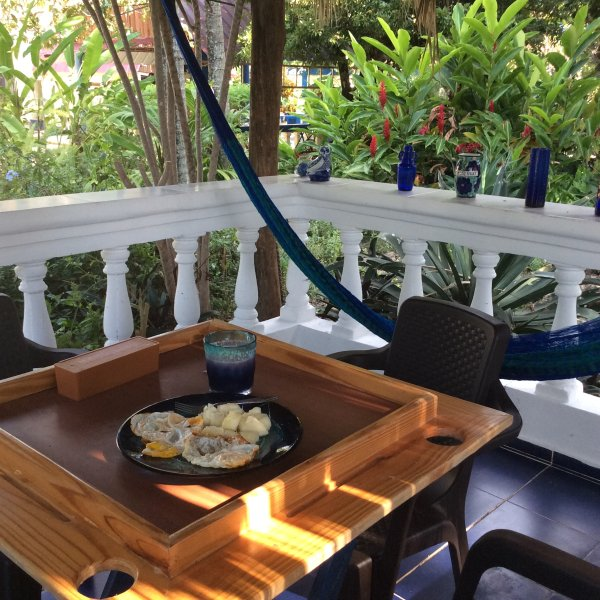 Intimate breakfast with hammock  Meals available upon request
