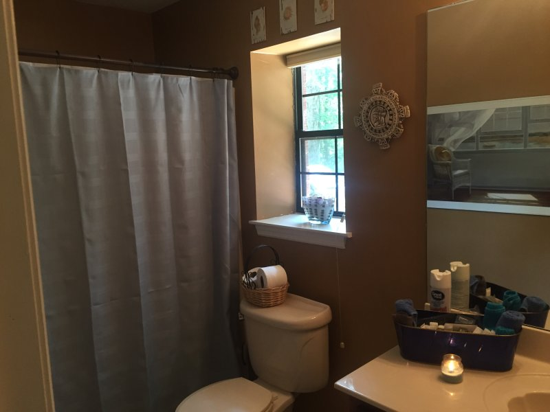 Shower and tub with all toiletries provided