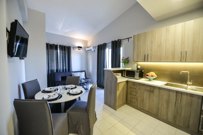 Regalo 2 bedroom flat in Kariotes/ Flat 9, location de vacances à Plagia