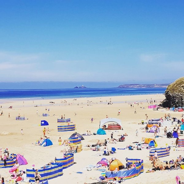Beautiful Hayle beach in the summer