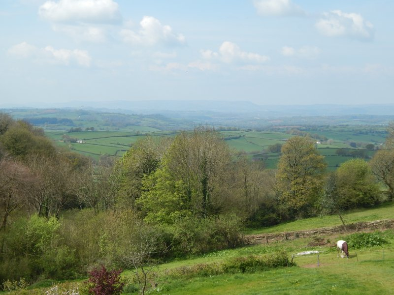The view towards the Vale of Usk