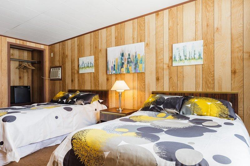 Deux lits confortables taille double