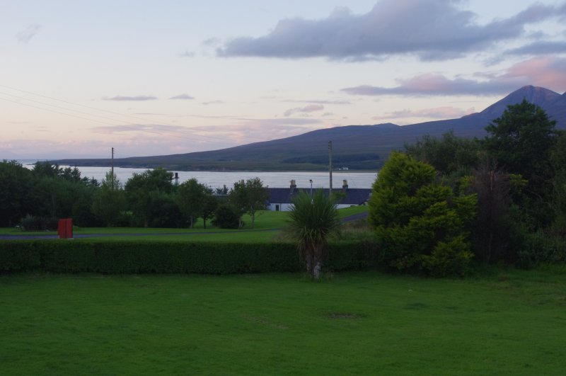 Views of the Sound and the Paps of Jura from the garden area.
