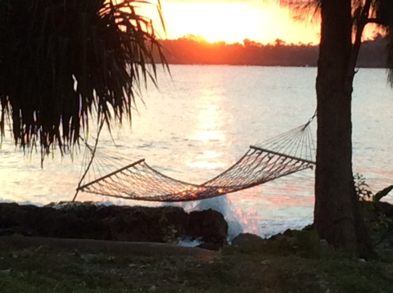 Our amazing sunsets over Teouma Bay