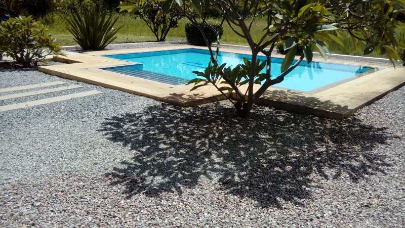 The Pool just 5 meters from the villa.