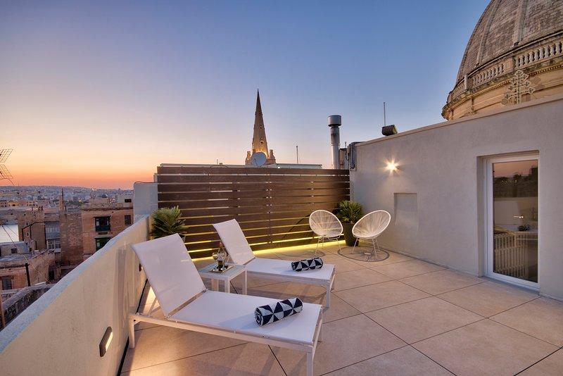 Communal roof top terrace