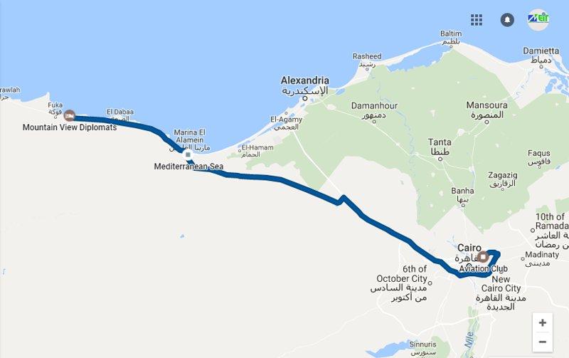 Cairo-Alx-Alameen-Matrouh autoroute 400 km