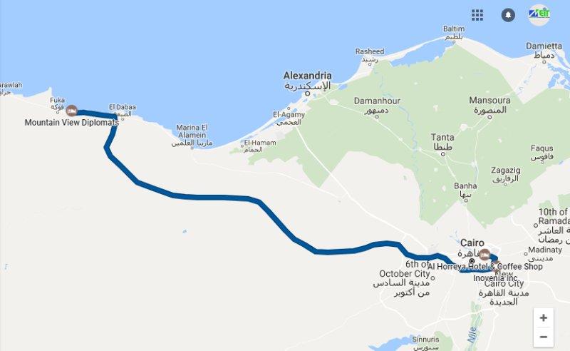 Le Caire à l'autoroute Fouka / Dabaa NOUVEAU accès direct à MV