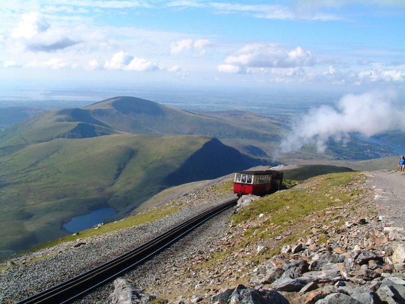 Snowdon train qui passe devant Lodges Crashpad