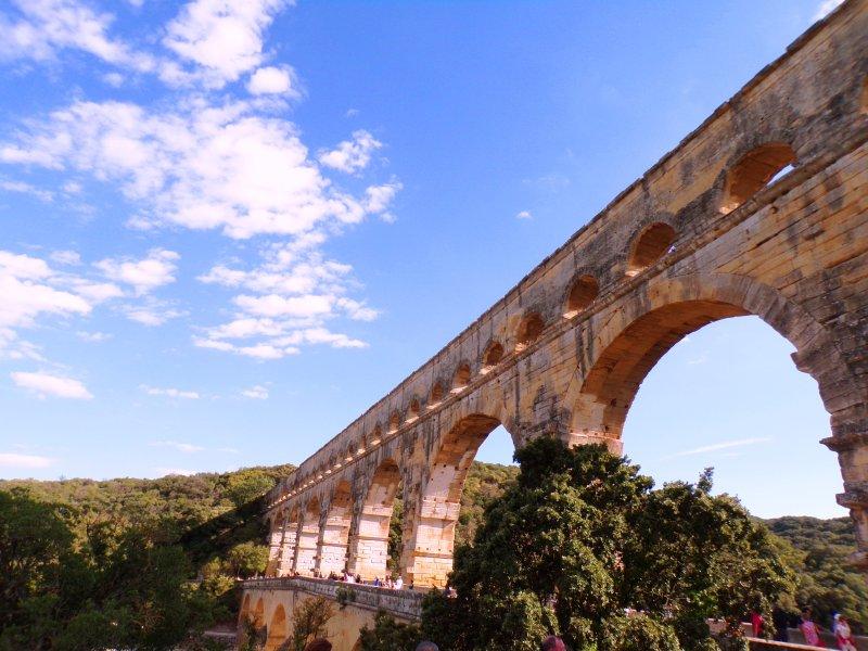 Puente Pont du Gard, cerca de Montfrin