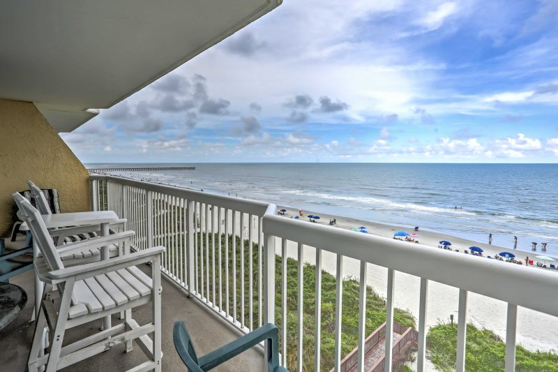 Grab your bathing suit and head to North Myrtle Beach to stay in this 3-bedroom, 3-bathroom vacation rental condo.
