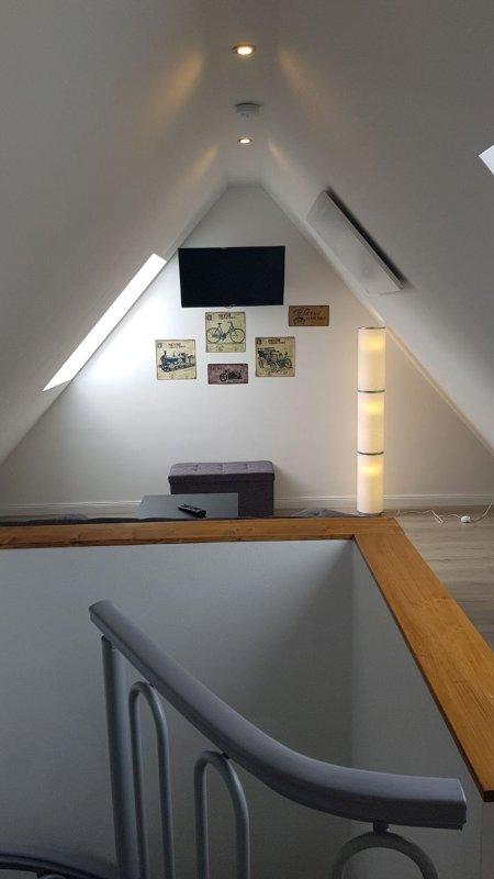 Coin salon avec canapé-lit pour 1-2 personnes au 3ème étage