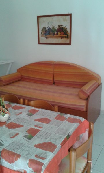 SOFA BED IN THE LIVING ROOM