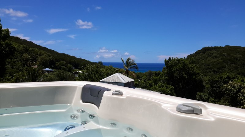 Appartement gite spa privé, vue mer Guadeloupe, vacation rental in Deshaies