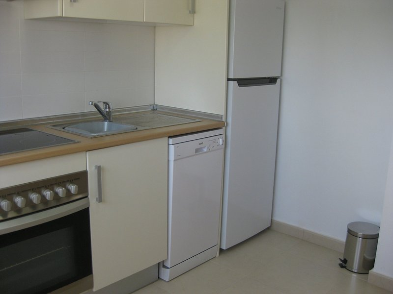 Newly equipped kitchen