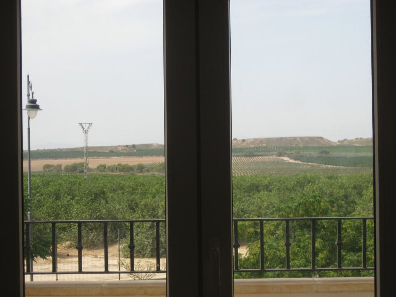 View from the twin room over the fields beyond.