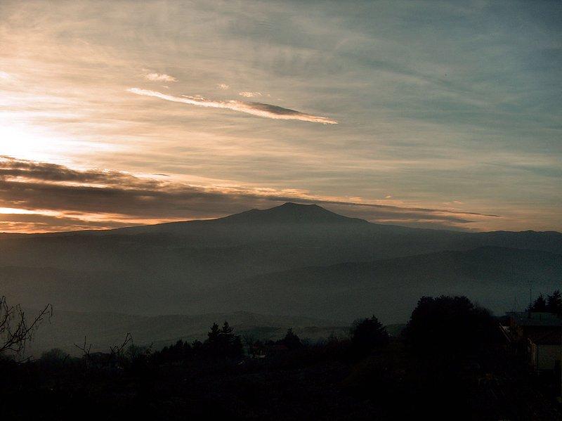 The Monte Amiata seen from Radicofani