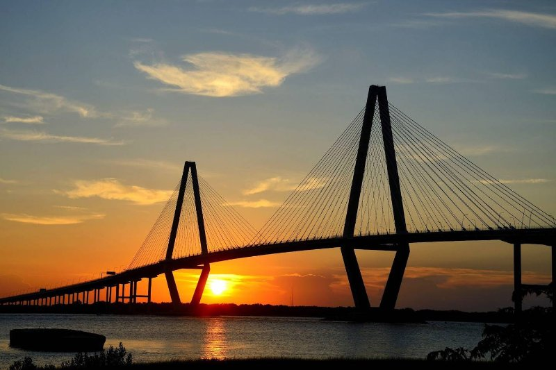 Ravenel Bridge, 1/4 mile from Condo. Pedestrian path on bridge to walk, run, or bike