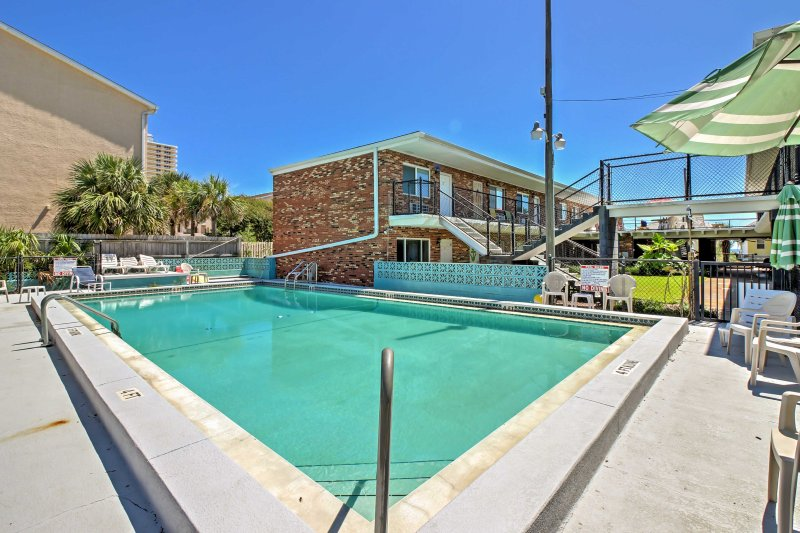 Escape to the sunshine of Panama City Beach at this ideally located vacation rental condo, boasting a community pool.
