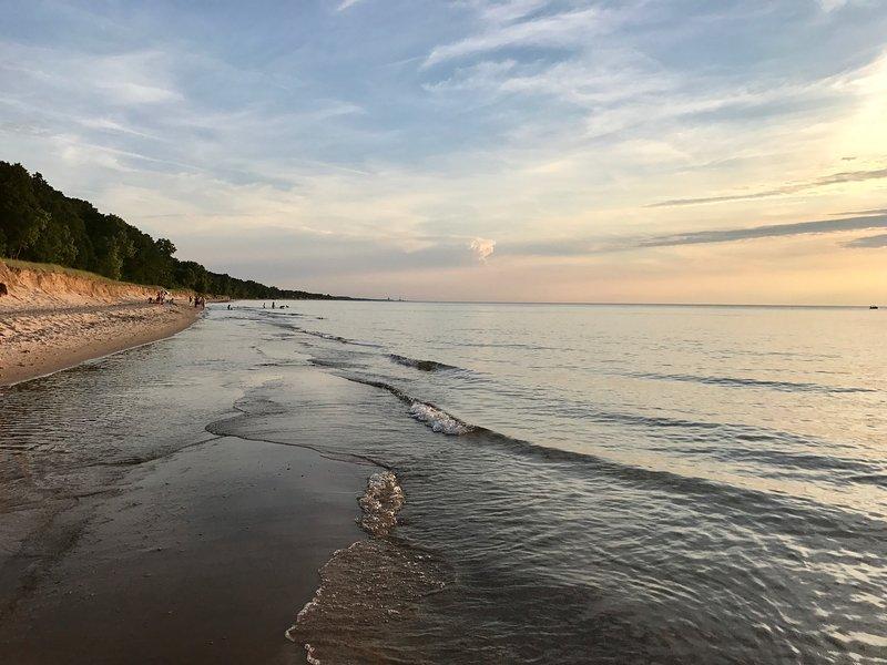 Enjoy lovely evenings on the lake shore.
