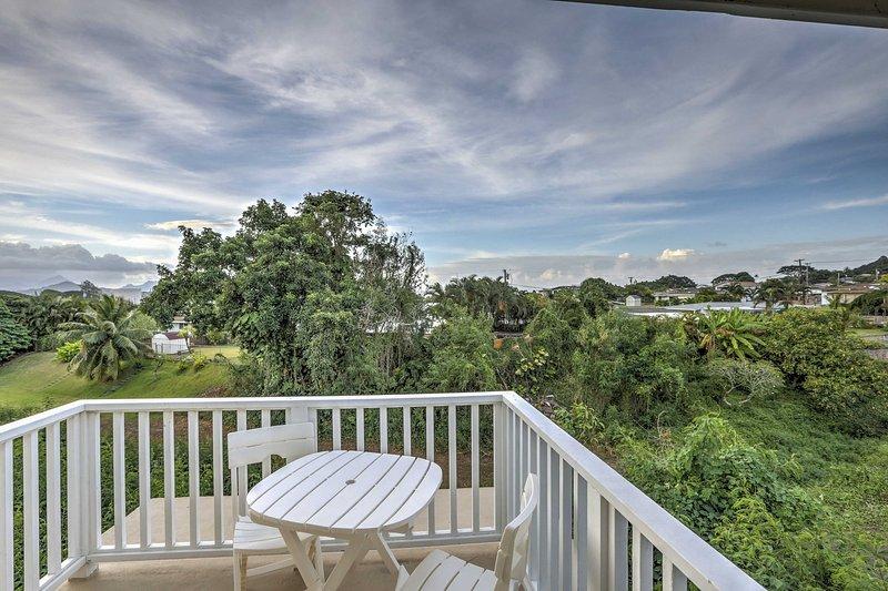 Erleben Sie Hawaii tropische Schönheit von diesem 1-Badezimmer Ferienhaus Studio in Kaneohe!