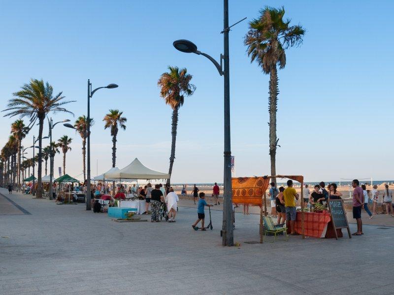 Surrounds, Boardwalk Beach La Patacona