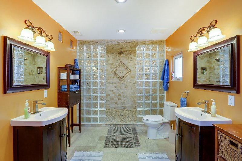 Spacious Master Bathroom and Huge shower