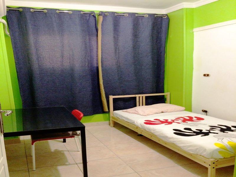 Foto des gesamten Raumes., Foto des Ganzen Zimmers.