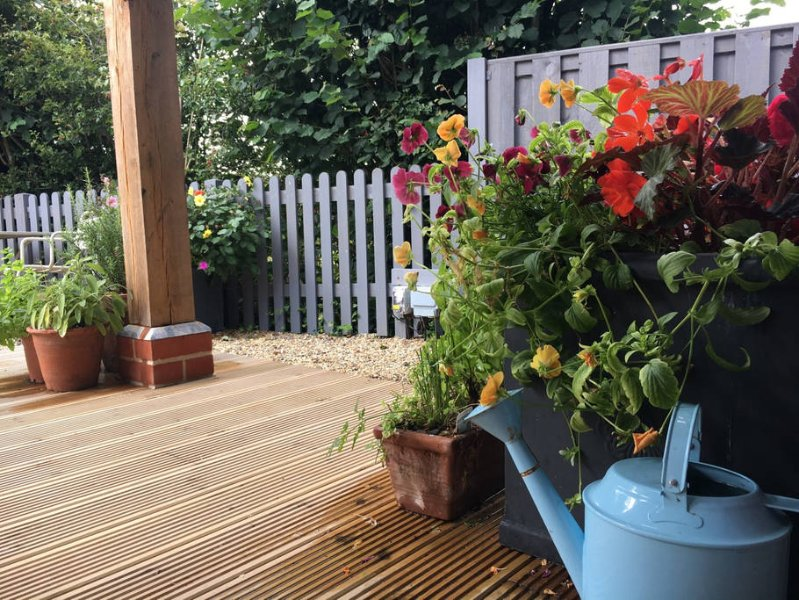 Enclosed garden with verandah