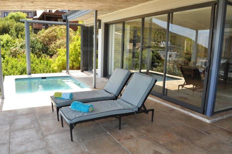 Verandah and pool loungers