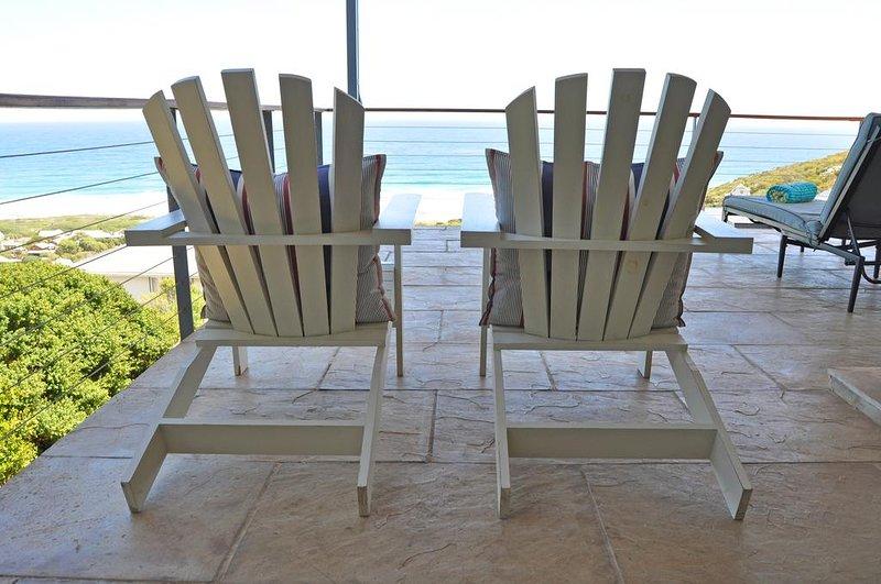 Adirondack chairs on verandah