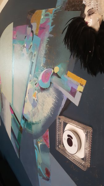 pintura arte en la pared