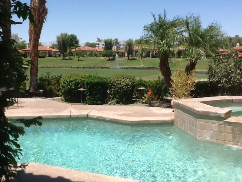 Enjoy lake and Citrus golf course views from patio, pool and spa