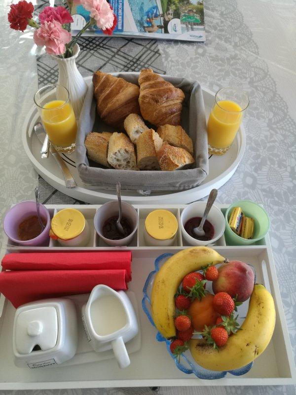 Ontbijt op aanvraag € 8 / persoon