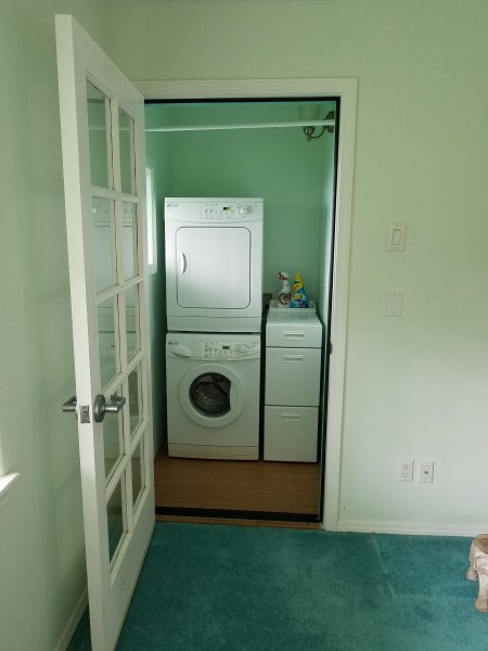 Washer and dryer in your unit.
